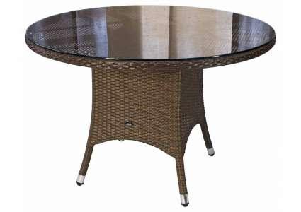 zebra geflecht tisch mary java rund 110 cm zebra. Black Bedroom Furniture Sets. Home Design Ideas