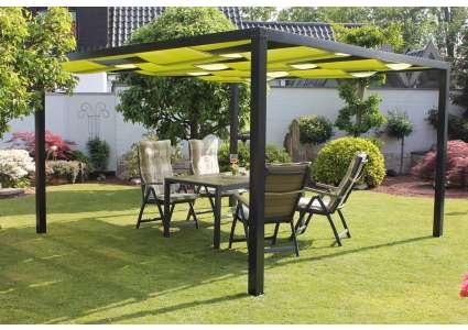 pavillon loft 360x360 cm dach gr n leco. Black Bedroom Furniture Sets. Home Design Ideas