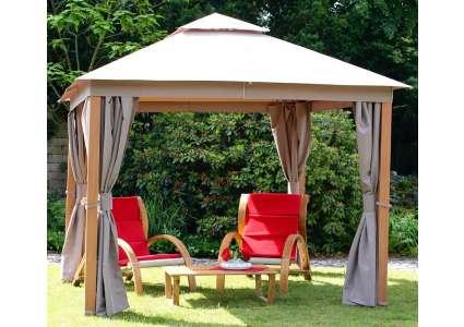 pavillon elegance 300x300 cm leco. Black Bedroom Furniture Sets. Home Design Ideas