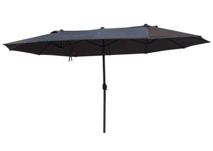 oval schirm messina anthrazit 270x460 cm leco. Black Bedroom Furniture Sets. Home Design Ideas