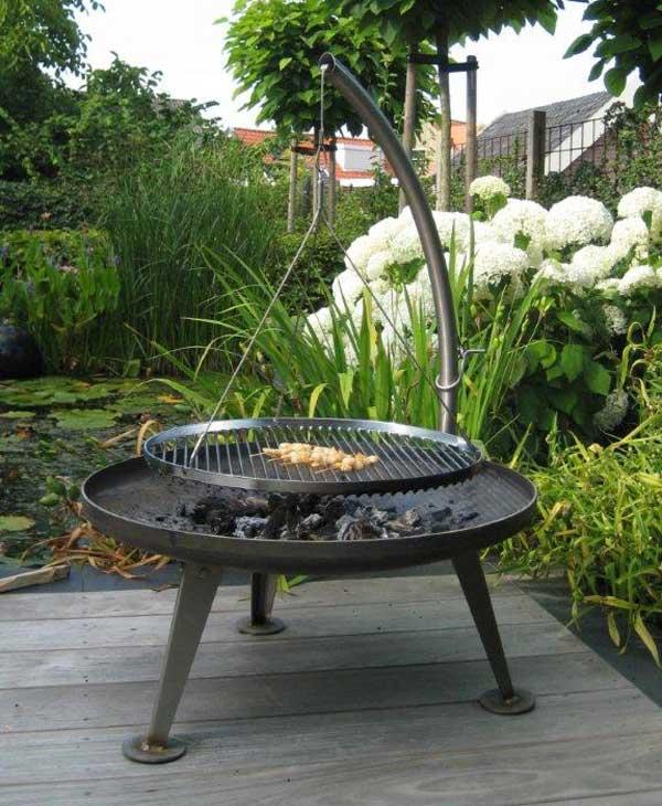 grill fire pit rund 120 cm von nielsen nielsen. Black Bedroom Furniture Sets. Home Design Ideas