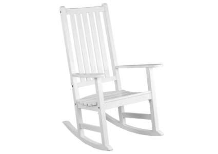 holzbank garten schaukelstuhl rocking chair weiss von. Black Bedroom Furniture Sets. Home Design Ideas