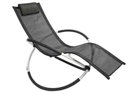 Schaukelstuhl gardasee schwarz leco for Leco schaukelstuhl mit polsterauflage