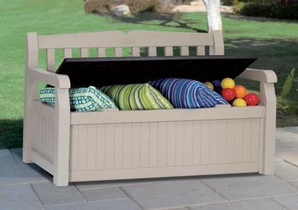 gartenbank keter mit kissenbox e h. Black Bedroom Furniture Sets. Home Design Ideas