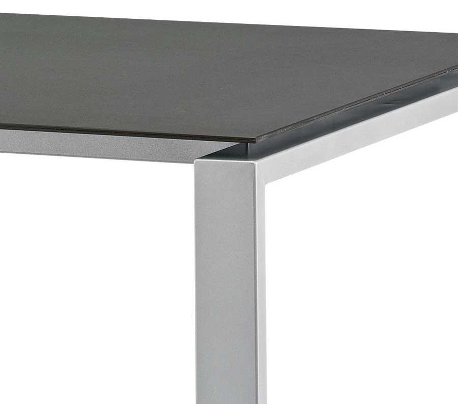 kunststoff tische hpl loft tisch 220x100 cm silber weiss von kettler kunststoff tische kettler. Black Bedroom Furniture Sets. Home Design Ideas