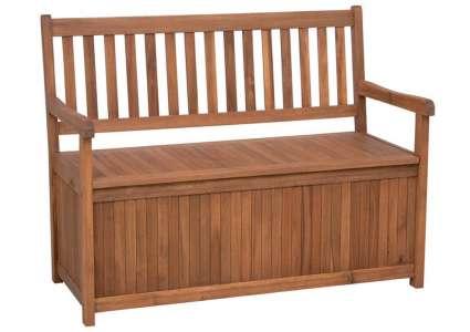 gartenbank boston 116 cm mit kissenbox siena. Black Bedroom Furniture Sets. Home Design Ideas