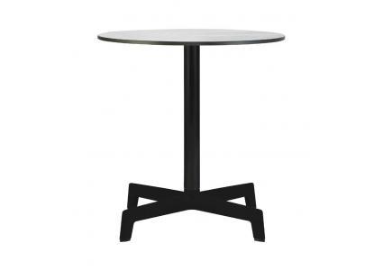 gartentisch hpl sputnik rund 70 weiss schwarz von resol. Black Bedroom Furniture Sets. Home Design Ideas
