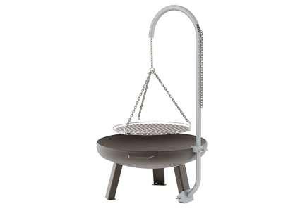 feuerschale rhodos rund 85 cm mit grillrost e h. Black Bedroom Furniture Sets. Home Design Ideas