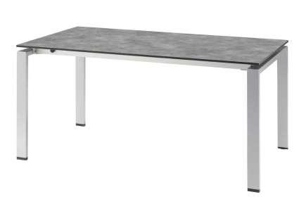 kettler hpl ausziehtisch 160 210x95 cm silber betonoptik kettler. Black Bedroom Furniture Sets. Home Design Ideas