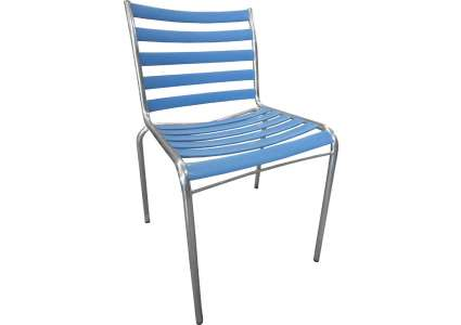gartenstuhl metall blau