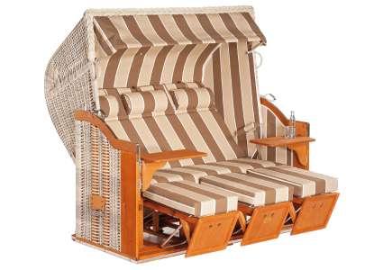 strandkorb 3 sitzer classic 041 geflecht antik weiss sonnenpartner sonnenpartner. Black Bedroom Furniture Sets. Home Design Ideas