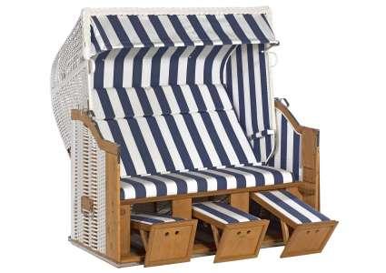 strandkorb 3 sitzer classic 040 geflecht weiss sonnenpartner sonnenpartner. Black Bedroom Furniture Sets. Home Design Ideas