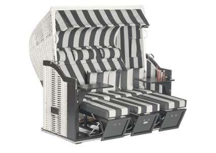 strandkorb 3 sitzer classic 093 geflecht antik weiss sonnenpartner sonnenpartner. Black Bedroom Furniture Sets. Home Design Ideas