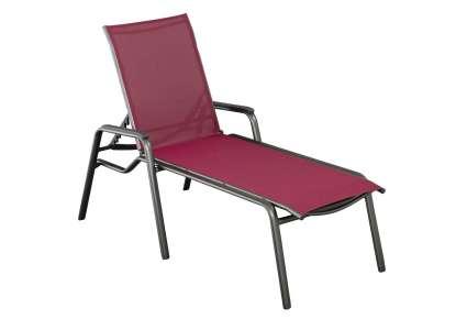 kettler gartenliege cirrus anthrazit bordeaux kettler. Black Bedroom Furniture Sets. Home Design Ideas
