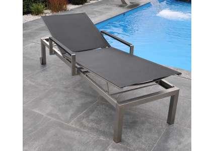 edelstahl gartenliege cube schwarz mit armlehnen von sit mobilia sit mobilia. Black Bedroom Furniture Sets. Home Design Ideas