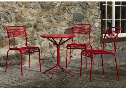 Gartensitzgruppe Säntis-Pix mit 3 Stühlen von Schaffner Schaffner