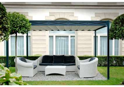 pavillon domus 400x500 cm unosider unosider. Black Bedroom Furniture Sets. Home Design Ideas