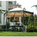Pavillon Hexagon 304 cm Unosider
