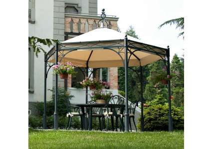 pavillon hexagon 354 cm unosider unosider. Black Bedroom Furniture Sets. Home Design Ideas
