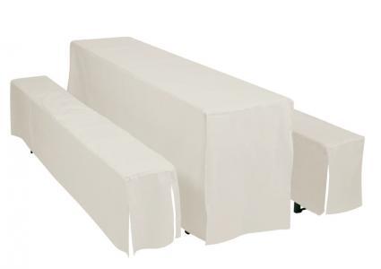 hussen f r festzeltgarnitur uni f r tisch 50 cm doppler. Black Bedroom Furniture Sets. Home Design Ideas