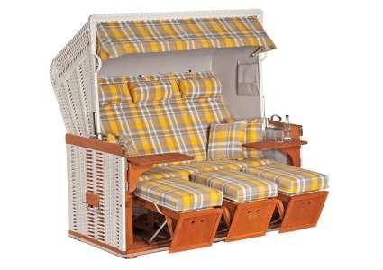 strandkorb 3 sitzer konsul oxford gelb geflecht weiss sonnenpartner sonnenpartner. Black Bedroom Furniture Sets. Home Design Ideas