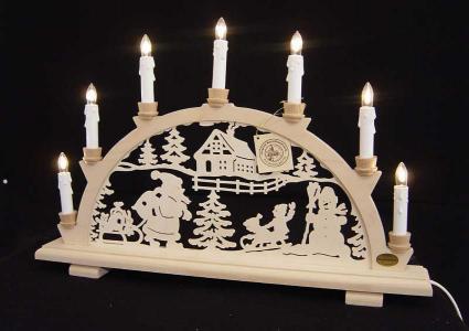lichterbogen traditionell weihnachts und schneemann 7. Black Bedroom Furniture Sets. Home Design Ideas
