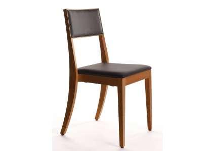 holzstuhl osiris eiche mit sitz u r ckenpolster manufakt. Black Bedroom Furniture Sets. Home Design Ideas