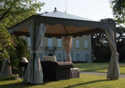 pavillon ottomezzo 4x4 m anthrazit unosider. Black Bedroom Furniture Sets. Home Design Ideas