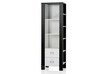 regalschrank modern weiss braun von herlag herlag. Black Bedroom Furniture Sets. Home Design Ideas