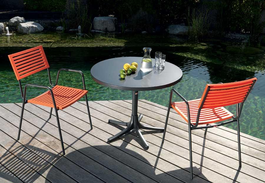 metalltisch arbon rund 92 cm schaffner schaffner. Black Bedroom Furniture Sets. Home Design Ideas