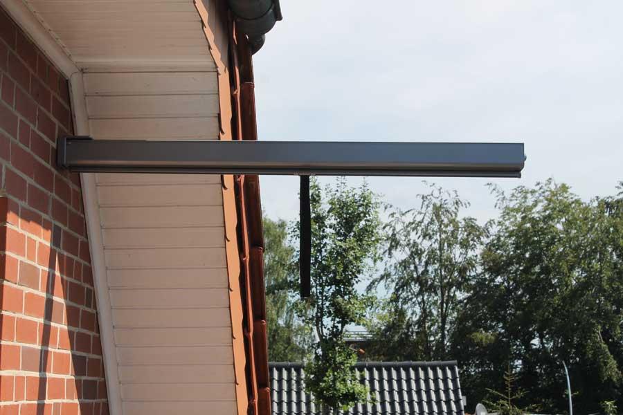 sichtschutz balkonmarkise amsterdam ausziehbar 120 cm natur sichtschutz leco. Black Bedroom Furniture Sets. Home Design Ideas