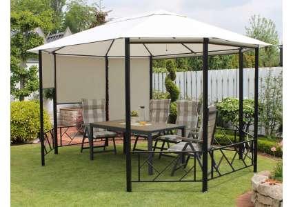 8 eck pavillon lissabon 375x300 cm leco. Black Bedroom Furniture Sets. Home Design Ideas