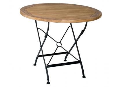 teak klapptisch new florence rund 90 cm zebra zebra. Black Bedroom Furniture Sets. Home Design Ideas