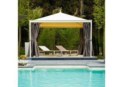 Pavillon ottomezzo 400x400 cm unosider unosider for Fenster 400x400