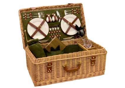 picknickk rbe picknickkorb salisbury 4 personen picknickk rbe leisure trends. Black Bedroom Furniture Sets. Home Design Ideas